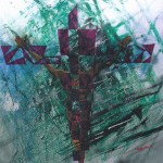 crucifixion W  (Mixed on board) 120cm x 120cm